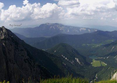 Mangart, pogled čez mejo, Avstrijo