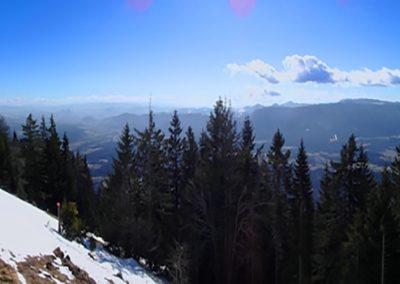 Dobrča, Koča na Dobrči, panorama