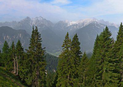 Planina Rožca, panoramski razgled