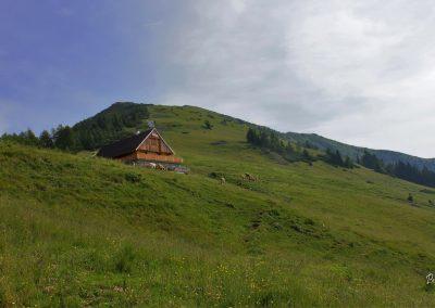 Planina Rožca, spodnji del, pogled proti Dovški babi