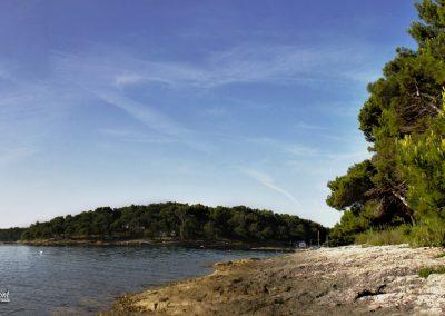 Premantura, obala, razgled na kamp