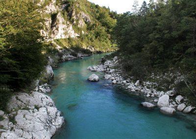 Izlet Razgled na reko Sočo z mostu