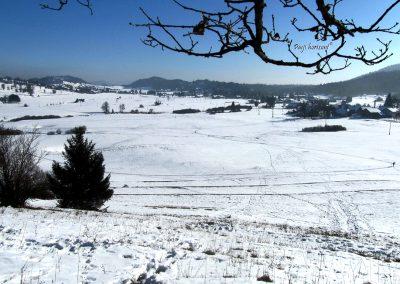 Rakitna; snežni razgled