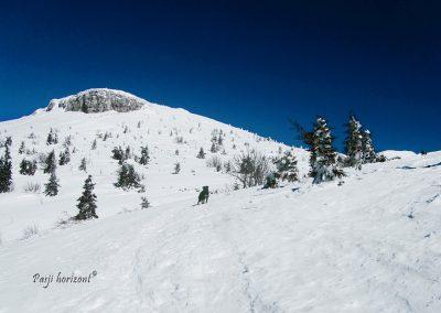 Razgled na Mali Snežnik ob poti