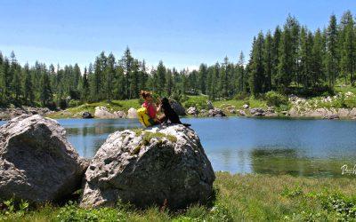 Triglavska sedmera jezera. Dvojno in Črno jezero.