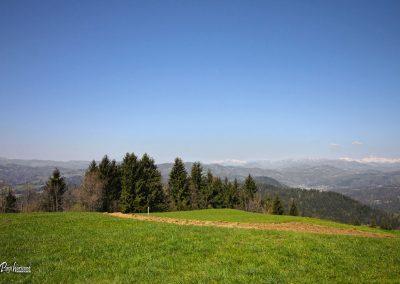 Vrh Svetih Treh Kraljev, čez travnike