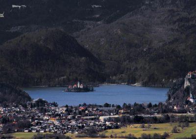 Smokuški vrh, razgled na Blejsko jezero