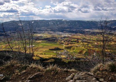 Smokuški vrh, razgled nad Gorenjsko z vrha