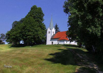 Pogled na cerkev na Osolniku