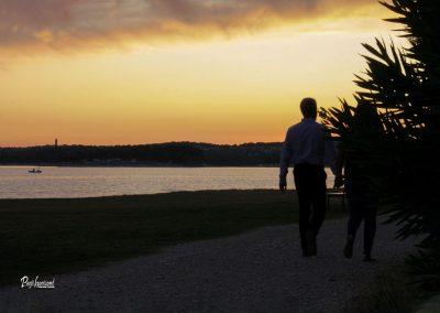 Kažela, sprehod ob sončnem zahodu