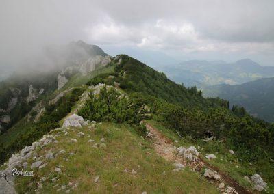 Govca (Olševa), greben, razgled na povratku