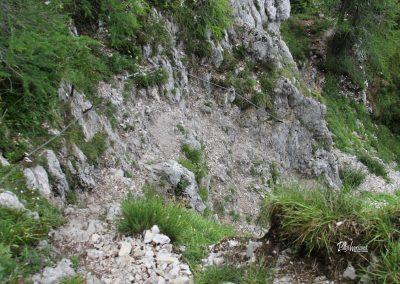 Olševa, del poti z jeklenicami proti Govci (Olševa)