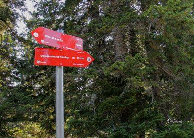 Smerne table za Črni vrh, Ribniško pohorje